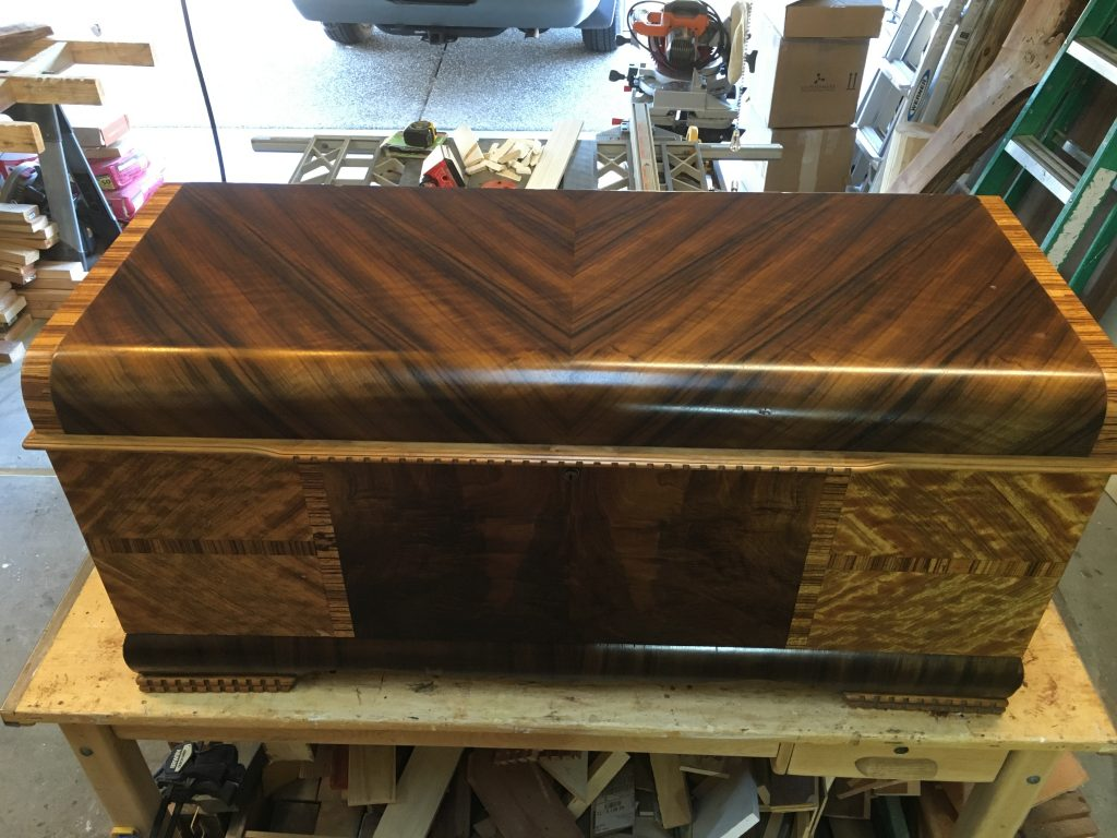 Refinished blanket chest
