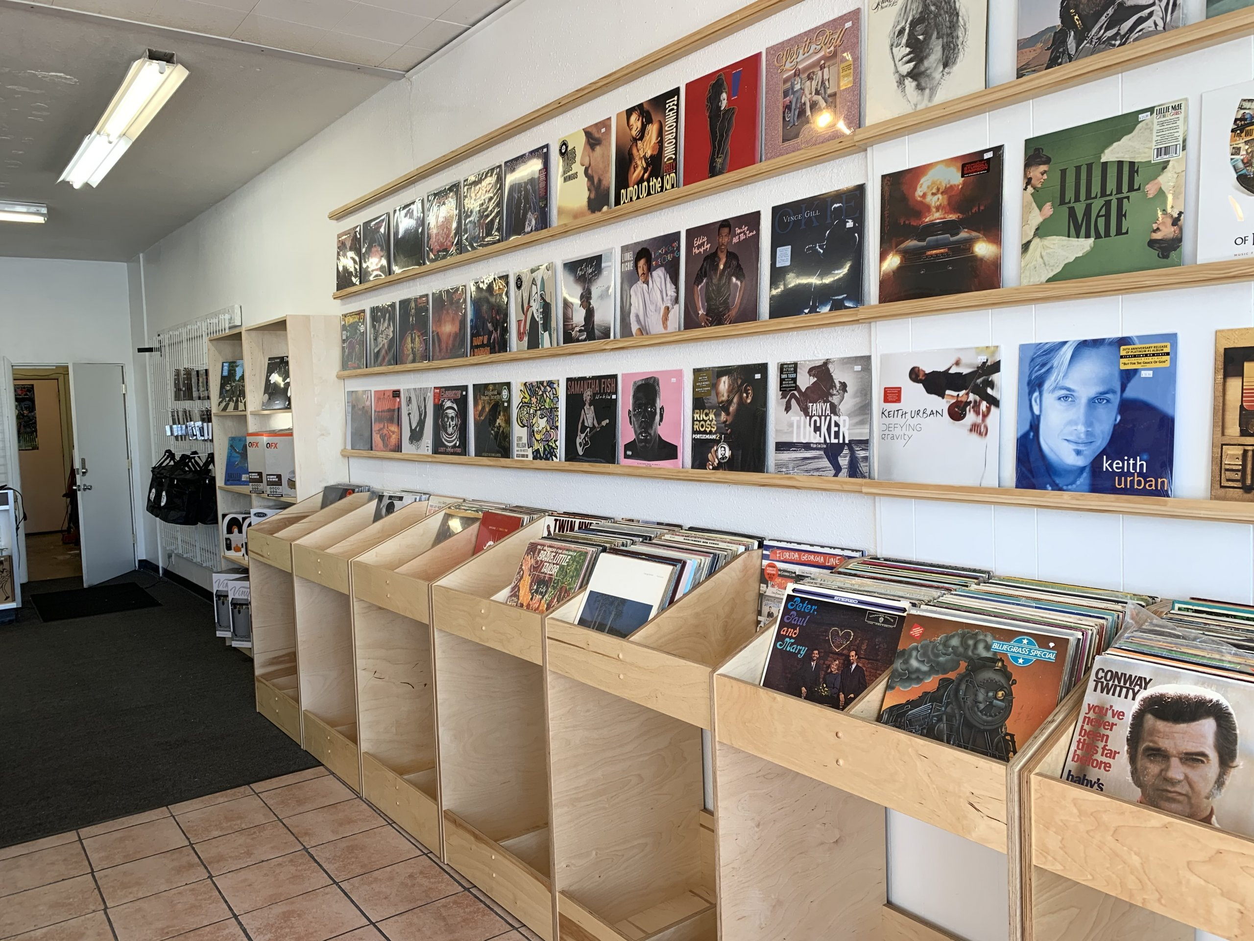 New Record Store Bins and shelving