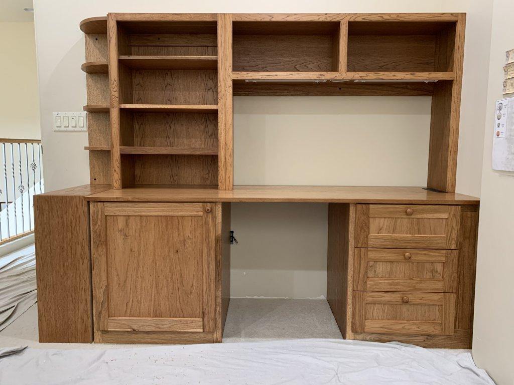 Hickory Desk w/Hutch