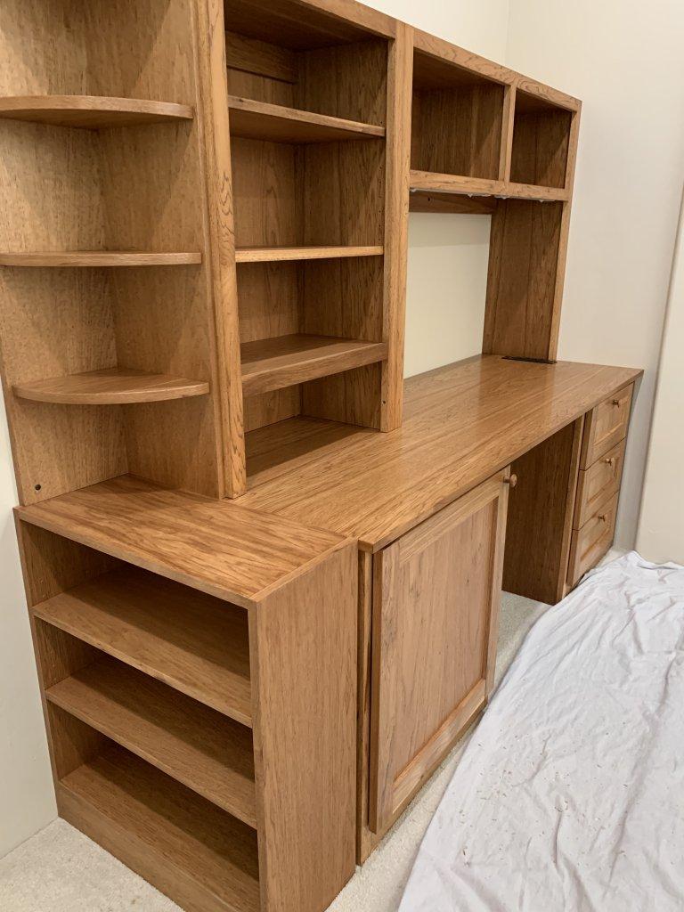 Hickory Desk w/Hutch 2