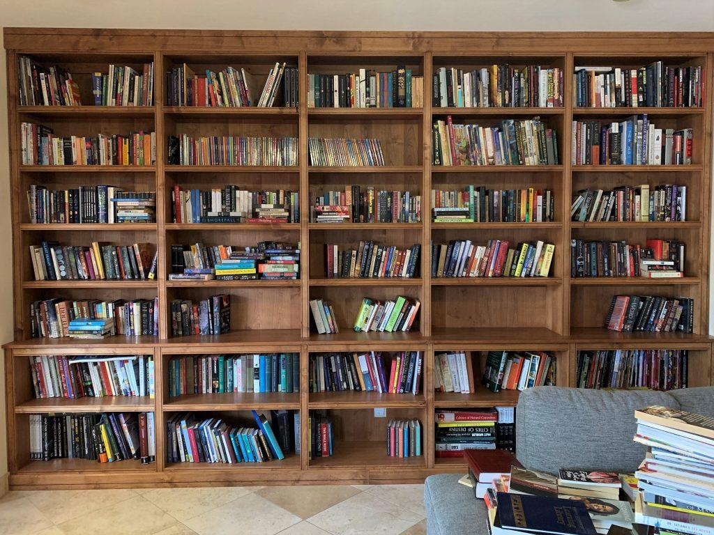 Built in Alder Book Case