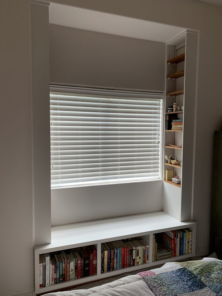 Window Seat with shelving